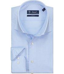 sleeve7 heren overhemd lichtblauw pied de poule