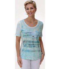 shirt mona ijsblauw::zilverkleur