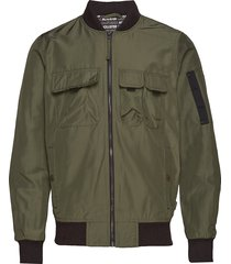 sleeve-stripe bomber jacket bomberjacka jacka grön hollister
