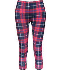 trendy bodycon plaid elastic waist women's leggings