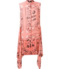 diesel wrap waist vest - pink