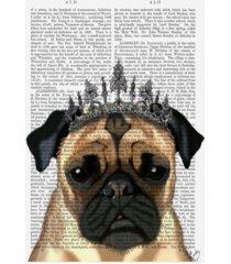 "fab funky pug with tiara canvas art - 27"" x 33.5"""