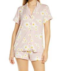 women's nordstrom lingerie moonlight short pajamas, size large - pink