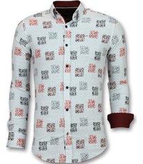 getailleerde overhemden - bloemen blouse - 3012