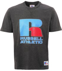 russell athletic garrett eagle logo t-shirt - charcoal marl pc86002-098
