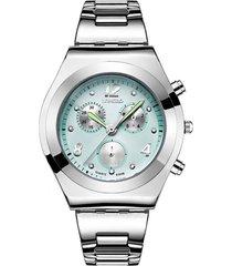 reloj azul vintage longbo 8399