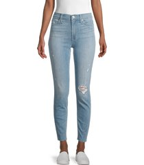 hudson women's blair high-rise distressed jeans - boracay - size 27 (4)