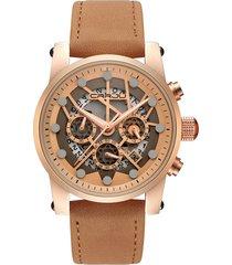 cinturino in vera pelle di lusso orologi militari da uomo 3 orologi piccoli con datario cronografo orologi impermeabili