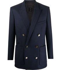balmain coll fit-dbl brstd wool twill blazer