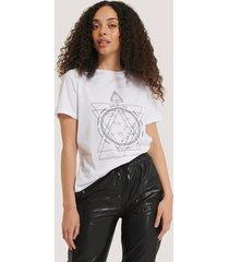 na-kd reborn t-shirt med tryck - white