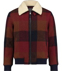 wool check jacket