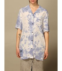 mcq alexander mcqueen mcq shirt eden high shirt by mcq in tie dye silk