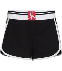 sleep short shorts flowy shorts/casual shorts svart calvin klein