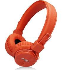 audífonos gamer, gaming estéreo hd inalámbricos audifonos bluetooth manos libres de los auriculares originales de nia x3 deportivos con la radio de la tarjeta fm del tf de la ayuda del micrófono (anaranjada)