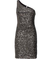 abito monospalla di paillettes (nero) - bodyflirt boutique
