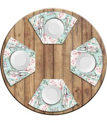 jogo americano love decor para mesa redonda wevans flowers premium kit com 4 pçs love decor