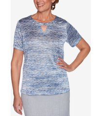 alfred dunner petite french bistro space-dye top