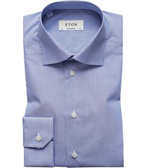 eton contemporary fit hemd blauw streep poplin