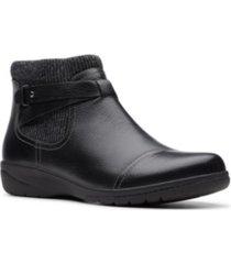 clarks collection women's cheyn kisha leather booties women's shoes