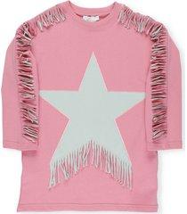 stella mccartney cotton fringed sweatshirt