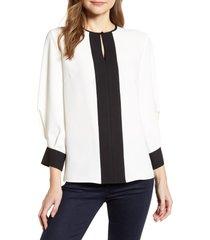 women's ming wang colorblock blouse