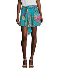 bridgette floral-print mini skirt