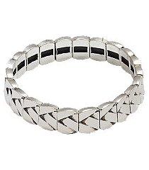 jos. a. bank silver-tone stretch bracelet