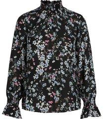 blouse high-neck bloemen