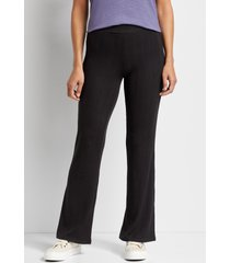 maurices womens black ribbed flare leg pants