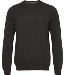 pullover long sleeve stickad tröja m. rund krage grå marc o'polo