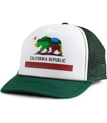 boné blanks co snap back california aba curva branco e verde