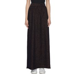 elastic waist cashmere maxi skirt