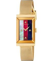 women's gucci g-frame mesh strap watch, 21mm x 34mm