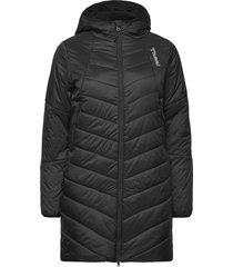 hmlvega coat gevoerde lange jas zwart hummel