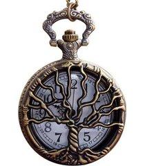 reloj de bolsillo arbol de la vida cuarzo steampunk 318
