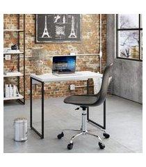 mesa de escritório studio branca 90 cm