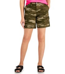 style & co camo topstitched cargo shorts, created for macy's