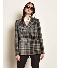 blazers marrón portsaid structured long gales