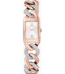 orologio cocktail, bracciale di metallo, tono oro rosa, pvd oro rosa