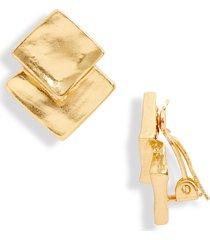 women's karine sultan square earrings