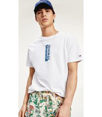 polera vertical logo blanco tommy jeans