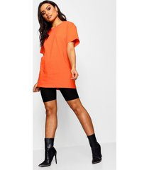 basic oversized boyfriend t-shirt, tangerine
