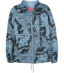 supreme x thrasher boyfriend jacket - blue