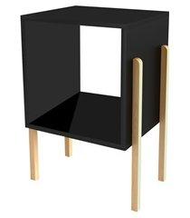 mesa lateral cantiga preto 55x39x28,8cm