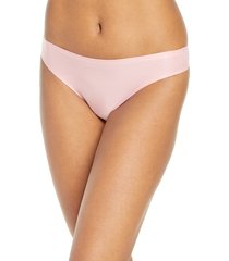 women's chantelle lingerie soft stretch seamless thong, size one size - pink
