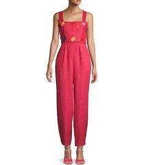 bow linen jumpsuit