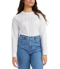 levi's women's batwing relaxed graphic top