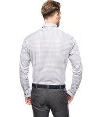 koszula bexley 2031 długi rękaw custom fit szary