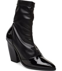 rodebjer cili black shoes boots ankle boots ankle boots with heel svart rodebjer