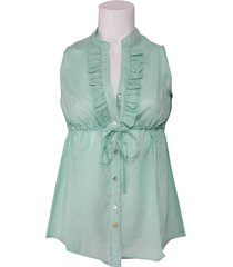 blouse amy gee - mintgroen